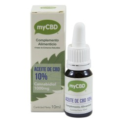 Aceite cbd al 10% de 10ml sublingual mycbd